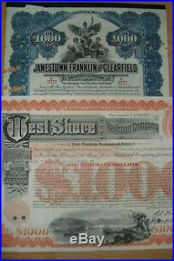 Lot 104 verschiedene USA Aktien / Bonds Top Auswahl