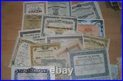 Lot 107 verschiedene International Wertpapiere