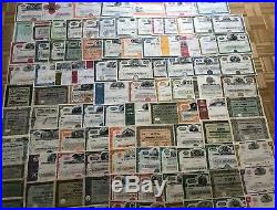 Lot/Sammlung 101 St. Historische Wertpapiere auch seltene
