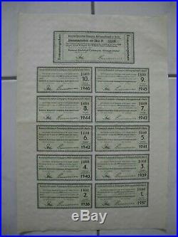 Lot mit 12 Aktien KAMERUN-KAUTSCHUK-Compagnie 1000 Mark / 1911, ungelocht
