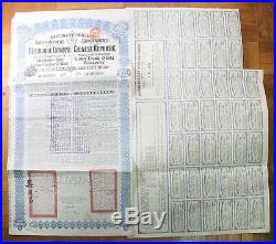Lung Tsing U Hai 20 Pounds 1913, China Republic Railway Bond with 42 Coupons