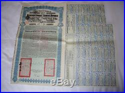 Lung Tsing U Hai Railway 1913 With Coupons Uncancelled