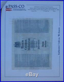 MEXICO $2,500 PESOS BANCO CENTRAL MEXICANO 1903 MEXICAN BOND aka BLUEBERRY