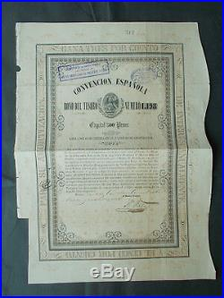 MEXICO 3%+5% Ps. 500- AGUILA NEGRA CONVENCION 1854
