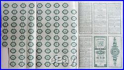 MEXICO Estado de Puebla 1000 Ps silver bond bono Nr. 618 UNCANCELLED many coupons