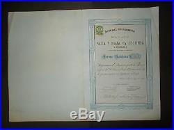 Mexico Minera Alta Y Baja California Accion 1880