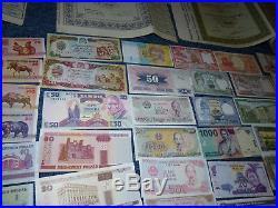 Nachlass / Sammlung 160 Banknoten und über 50 Aktien Deutsches Reich und Ausland