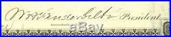 New York and Harlem Rail Road Company. Stock Certificate William Vanderbilt 1876