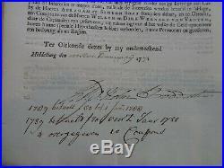Niederlande/Suriname Plantagien Colonie van Esfaquebo en Demerary. 1771