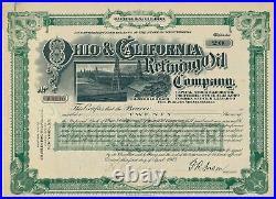 Ohio & California Refining Oil Company, 1. April 1903, 20 Shares, No. A6310