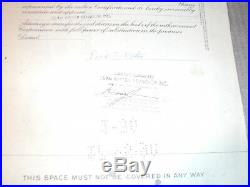 PLAYBOY Stock Certificate AS IS 100 Share Nice Art Collectible Willy Ray