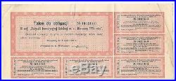 POLAND OBLIGATION 500 zlotych in gold 1927. Warszawa. RARE