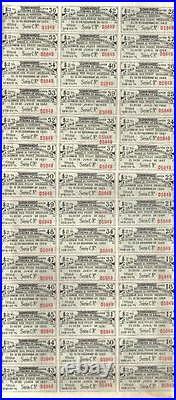 Paraguay Gold Internal loan 1935 Bond 1940 Public Debt $100 Uncancelled coupons