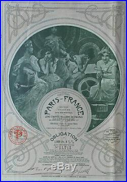 Paris- France SA Obligation 1930