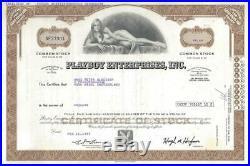 Playboy Enterprises, Inc. (Aktie) 1977 -SEHR DEKORATIV