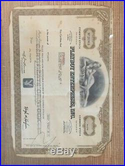 Playboy Stock Certificate