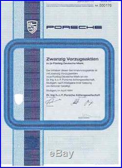 Porsche AG 1000DM Stuttgart 1984