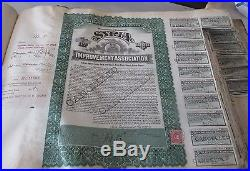 RARE 1916 MORTGAGE GOLD BONDS (CANCELLED) SYRIA IMPROVEMENT ASSOCIATION