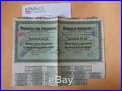 RARE! BANQUE d'ORIENT 1250 GOLD FRS PASS-CO