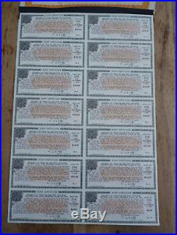 REPUBLIC OF CHINA, 1000 $ Bond von 1919, Coupons, Certificate