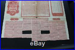 Rare! 1911100Imperial Chinese railway sinking fund gold loan 100