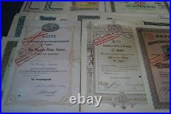 SAMMLUNG mit 150 verschiedenen DEUTSCHEN AKTIEN aus 1873 1942 mit Taleraktien