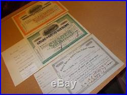 Set Of Maine Central Railroad Stock Cert. 25 In All
