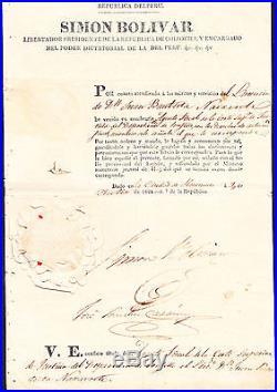 Simon Bolivar The Most Important Signature In Latinoamerica