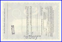 SPECIMEN Ringling Bros. Barnum & Bailey Circus Stock Certificate