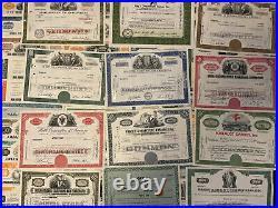 SUPER-LOT/SET 100 x verschiedene US-Wertpapiere/Aktien (1881-ca. 1990) -ab 1