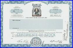 Samuel Adams Boston Beer Company Specimen Stock Temporary Certificate Brewery