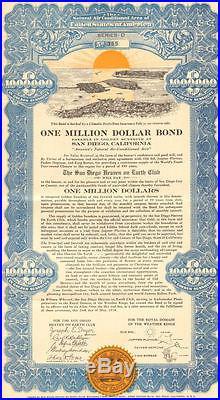 San Diego Heaven on Earth Club Million Dollar California Bond Joseph Dryer