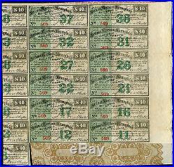 Selma, Marion & Memphis Railroad Company 1869 $1000 Bond Certificates Rare