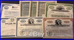 Set/Lot 100 x Hist. Wertpapiere weltweit, 75% USA, Rest vorw. Deutschl. Ab 1