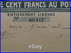 Société Générale d´Automobiles de Place et d´Excursions 1908 Jugendstil selten