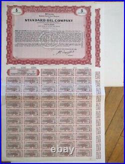 Standard Oil Company PAIR Giant SPECIMEN 1956 Stock/Bond Certificates