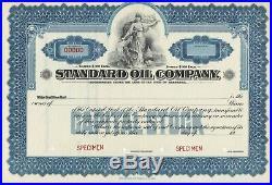 Standard Oil Company Specimen Stock Certificate 1920's Rare Nebraska Issue