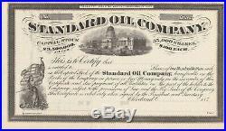 Standard Oil Company Stock Certificate Scarce Petroleum 1870's Rockefeller