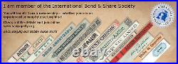 State of North Carolina 1868 Bond 1000 $, uncancelled withcoupons