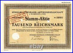 Südharz Eisenbahn AG 1926 Walkenried 1951 1000DM Braunlage Wurmberg