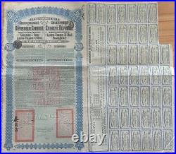 Super Petchili China 1913 Lung Tsing U Hai 20 Sterling 42 Coups Uncancelled Bond