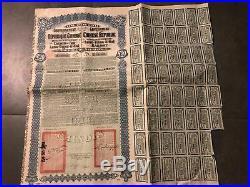 Super petchili CHINA Government Lung Tsing U Hai Railway Gold Bond 1913
