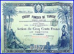 TUNISIA 3x Crédit Foncier de Tunisie 500 Frs 1890