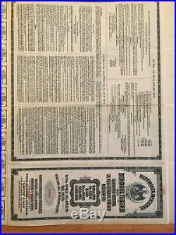 Tesoro 975 Republica Mexicana Bono del Tesoro £100 1913