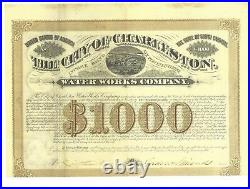 The City Of Charleston (sc) Water Works Co. 1881 Six Percent Income Bond