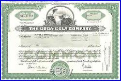 The Coca-Cola Company original collectible Coke stock certificate