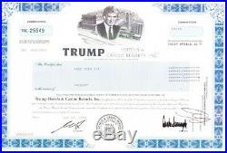 Trump Hotels & Casino Resorts, Inc. 2004 Stock Certificate