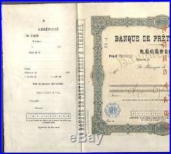 UNIQUE SPECIMEN BANK OF PERSIA IN TEHRAN PRINTING SCHUMACHER BROTHERS RUS 1890s