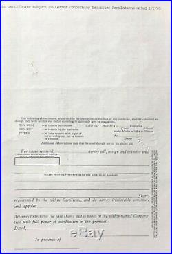 VeYryRare Treasure Salvors Investors 1985 Atocha stock certificate. FIRE SALE