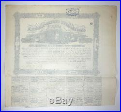 Vintage Confederate States of America 1862 $500 Bond Depicts Battle of Shiloh